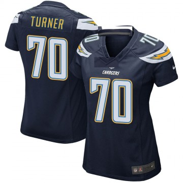 Women's Nike Los Angeles Chargers Trai Turner Navy Team Color Jersey - Game
