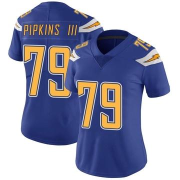 Women's Nike Los Angeles Chargers Trey Pipkins Royal Color Rush Vapor Untouchable Jersey - Limited