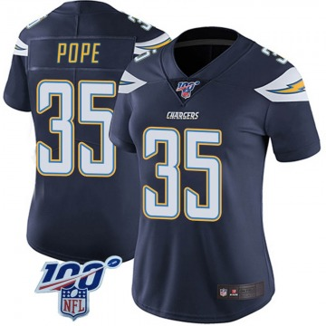 Women's Nike Los Angeles Chargers Troymaine Pope Navy 100th Vapor Jersey - Limited