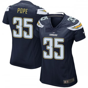 Women's Nike Los Angeles Chargers Troymaine Pope Navy Team Color Jersey - Game