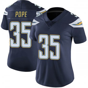 Women's Nike Los Angeles Chargers Troymaine Pope Navy Team Color Vapor Untouchable Jersey - Limited