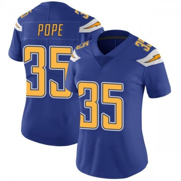 Women's Nike Los Angeles Chargers Troymaine Pope Royal Color Rush Vapor Untouchable Jersey - Limited