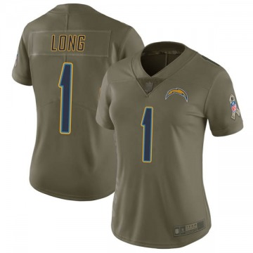 Women's Nike Los Angeles Chargers Ty Long Green 2017 Salute to Service Jersey - Limited