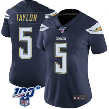Women's Nike Los Angeles Chargers Tyrod Taylor Navy 100th Vapor Jersey - Limited