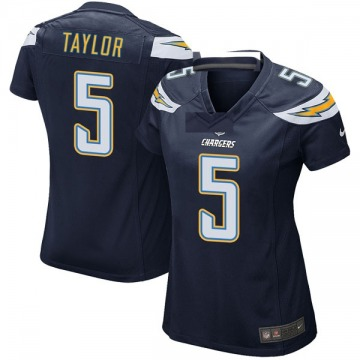 Women's Nike Los Angeles Chargers Tyrod Taylor Navy Team Color Jersey - Game