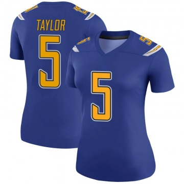 Women's Nike Los Angeles Chargers Tyrod Taylor Royal Color Rush Jersey - Legend