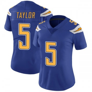 Women's Nike Los Angeles Chargers Tyrod Taylor Royal Color Rush Vapor Untouchable Jersey - Limited