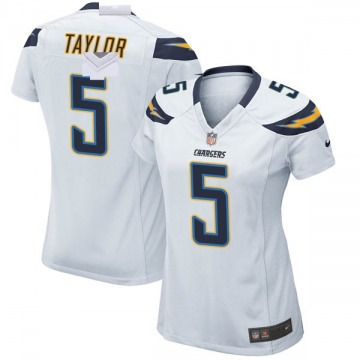 Women's Nike Los Angeles Chargers Tyrod Taylor White Jersey - Game