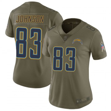 Women's Nike Los Angeles Chargers Tyron Johnson Green 2017 Salute to Service Jersey - Limited