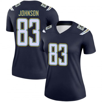 Women's Nike Los Angeles Chargers Tyron Johnson Navy Jersey - Legend