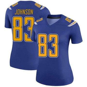 Women's Nike Los Angeles Chargers Tyron Johnson Royal Color Rush Jersey - Legend