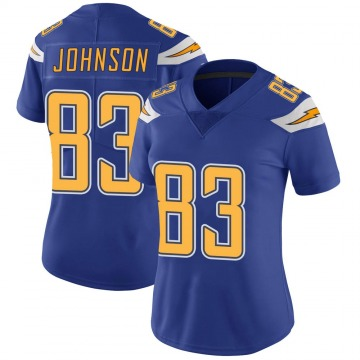 Women's Nike Los Angeles Chargers Tyron Johnson Royal Color Rush Vapor Untouchable Jersey - Limited