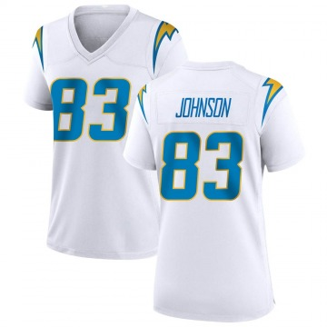 Women's Nike Los Angeles Chargers Tyron Johnson White Jersey - Game