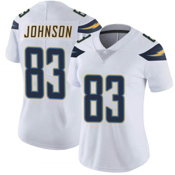 Women's Nike Los Angeles Chargers Tyron Johnson White Vapor Untouchable Jersey - Limited