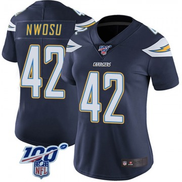Women's Nike Los Angeles Chargers Uchenna Nwosu Navy 100th Vapor Jersey - Limited