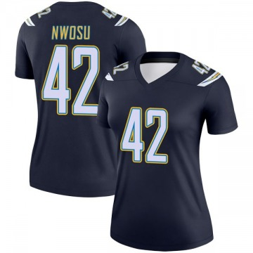 Women's Nike Los Angeles Chargers Uchenna Nwosu Navy Jersey - Legend
