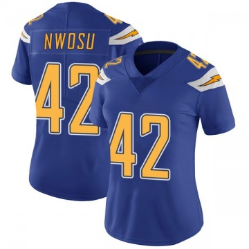 Women's Nike Los Angeles Chargers Uchenna Nwosu Royal Color Rush Vapor Untouchable Jersey - Limited