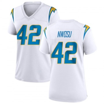 Women's Nike Los Angeles Chargers Uchenna Nwosu White Jersey - Game