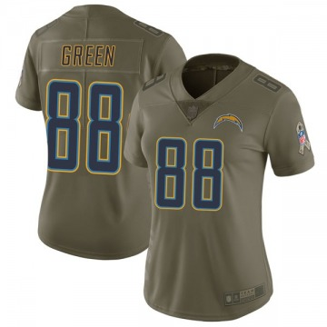 Women's Nike Los Angeles Chargers Virgil Green Green 2017 Salute to Service Jersey - Limited