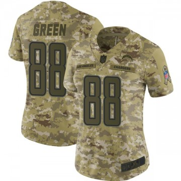 Women's Nike Los Angeles Chargers Virgil Green Green Camo 2018 Salute to Service Jersey - Limited