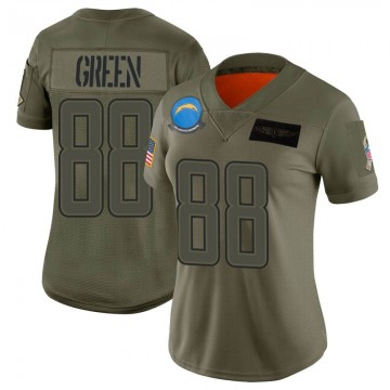 Women's Nike Los Angeles Chargers Virgil Green Green Camo 2019 Salute to Service Jersey - Limited