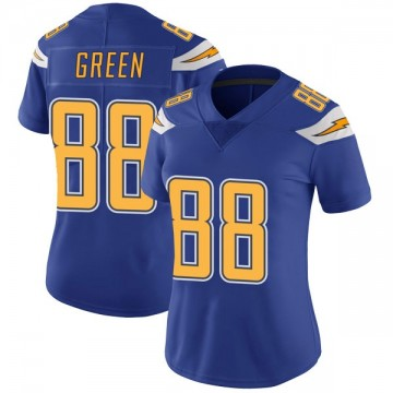 Women's Nike Los Angeles Chargers Virgil Green Green Color Rush Royal Vapor Untouchable Jersey - Limited