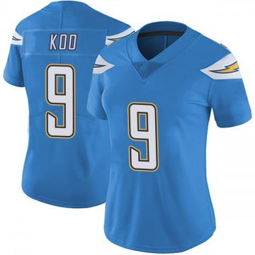 Women's Nike Los Angeles Chargers Younghoe Koo Blue Powder Vapor Untouchable Alternate Jersey - Limited