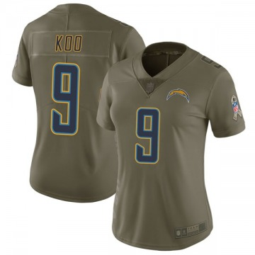 Women's Nike Los Angeles Chargers Younghoe Koo Green 2017 Salute to Service Jersey - Limited