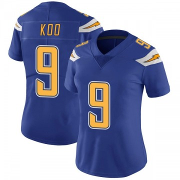Women's Nike Los Angeles Chargers Younghoe Koo Royal Color Rush Vapor Untouchable Jersey - Limited