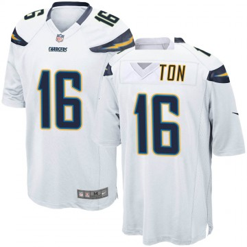 Youth Nike Los Angeles Chargers Andre Patton White Jersey - Game