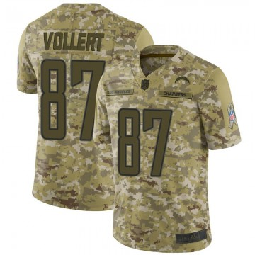 Youth Nike Los Angeles Chargers Andrew Vollert Camo 2018 Salute to Service Jersey - Limited