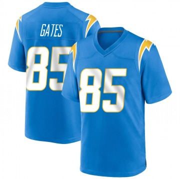 Youth Nike Los Angeles Chargers Antonio Gates Blue Powder Alternate Jersey - Game