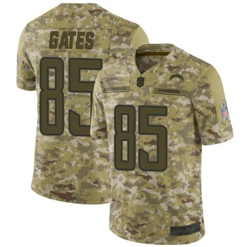 Youth Nike Los Angeles Chargers Antonio Gates Camo 2018 Salute to Service Jersey - Limited