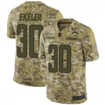 Youth Nike Los Angeles Chargers Austin Ekeler Camo 2018 Salute to Service Jersey - Limited