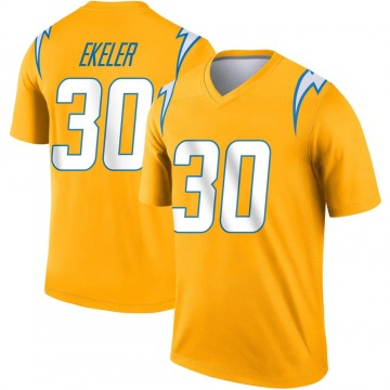 Youth Nike Los Angeles Chargers Austin Ekeler Gold Inverted Jersey - Legend