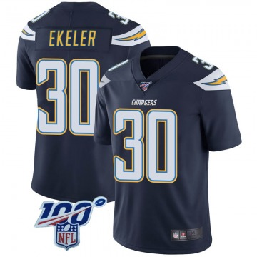 Youth Nike Los Angeles Chargers Austin Ekeler Navy 100th Vapor Jersey - Limited