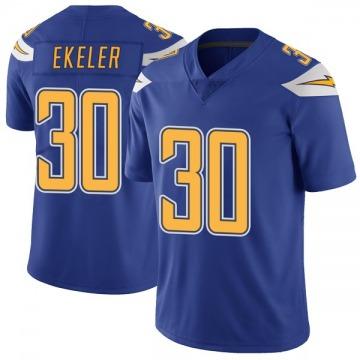 Youth Nike Los Angeles Chargers Austin Ekeler Royal Color Rush Vapor Untouchable Jersey - Limited