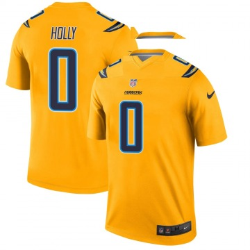 Youth Nike Los Angeles Chargers Bobby Holly Gold Inverted Jersey - Legend