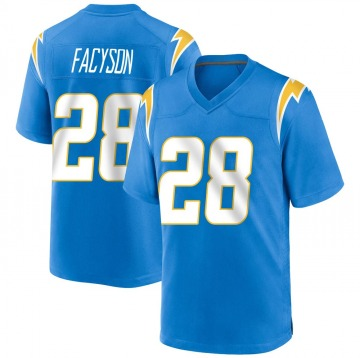 Youth Nike Los Angeles Chargers Brandon Facyson Blue Powder Alternate Jersey - Game