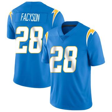 Youth Nike Los Angeles Chargers Brandon Facyson Blue Powder Vapor Untouchable Alternate Jersey - Limited