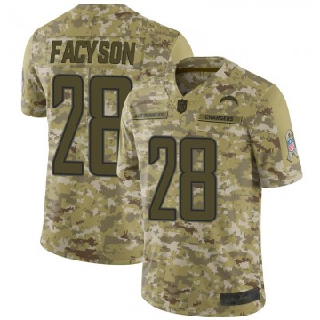 Youth Nike Los Angeles Chargers Brandon Facyson Camo 2018 Salute to Service Jersey - Limited