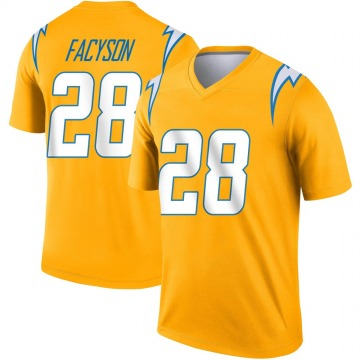 Youth Nike Los Angeles Chargers Brandon Facyson Gold Inverted Jersey - Legend