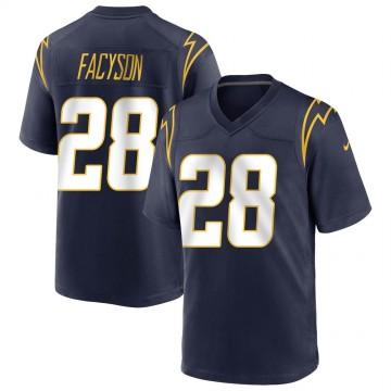 Youth Nike Los Angeles Chargers Brandon Facyson Navy Team Color Jersey - Game