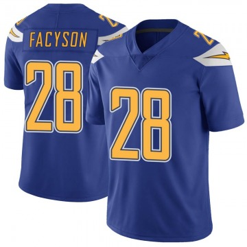 Youth Nike Los Angeles Chargers Brandon Facyson Royal Color Rush Vapor Untouchable Jersey - Limited