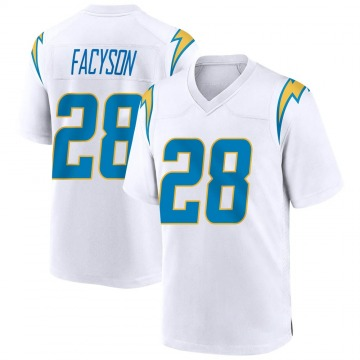 Youth Nike Los Angeles Chargers Brandon Facyson White Jersey - Game