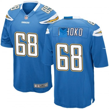 Youth Nike Los Angeles Chargers Breiden Fehoko Blue Powder Alternate Jersey - Game