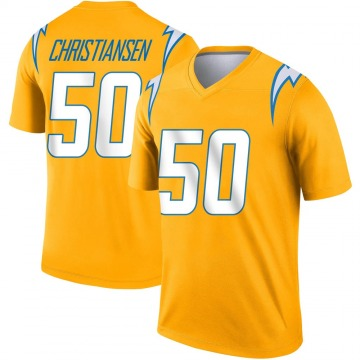 Youth Nike Los Angeles Chargers Cole Christiansen Gold Inverted Jersey - Legend
