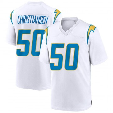 Youth Nike Los Angeles Chargers Cole Christiansen White Jersey - Game