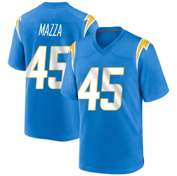 Youth Nike Los Angeles Chargers Cole Mazza Blue Powder Alternate Jersey - Game