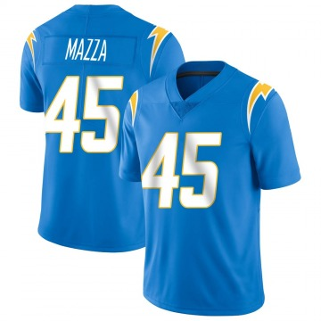 Youth Nike Los Angeles Chargers Cole Mazza Blue Powder Vapor Untouchable Alternate Jersey - Limited